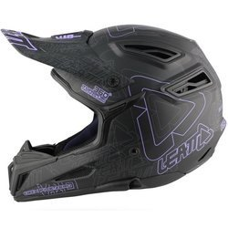 Bicycle helmet  LEATT DBX 5.0 V10 ENDURO / FR / DH black / purple /grey