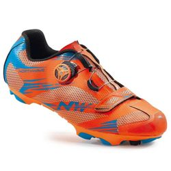 Buty rowerowe NORTHWAVE Scorpius 2 PLUS MTB SPD orange / blue