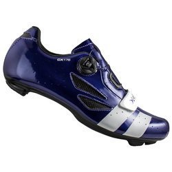 Buty rowerowe szosowe LAKE CX176 BOA Action LEATHER (SKÓRA!) blue / white