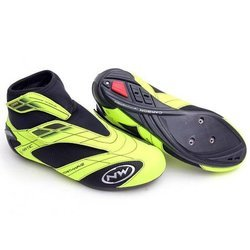 Buty rowerowe szosowe NORTHWAVE Arctic Commuter ROAD GTX NRG CARBON GORE-TEX yellow fluo / black