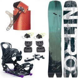 DAMSKI ZESTAW 2020: splitboard NITRO Squash + wiązania VOILE Speed Rail + foki BLACK DIAMOND Ascension Splitboard