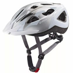 Damski kask rowerowy CRATONI Siron MTB IN-MOLD white / silver glossy