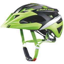 Kask rowerowy CRATONI C-Hawk MTB CARBON 240g! green / black / silver rubber