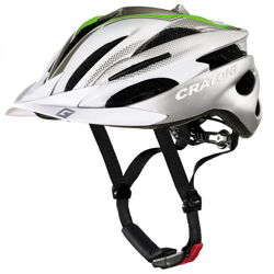 Kask rowerowy CRATONI Pacer sliver / white / green glossy