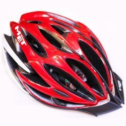 Kask rowerowy MET 5th Element red / white