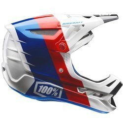 Kask rowerowy fullface 100% Aircraft R8 | CARBON / KEVLAR | ENDURO FR DH  white