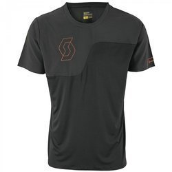 Koszulka rowerowa SCOTT Trail Tech 10 S/S Shirt black / tangerine orange