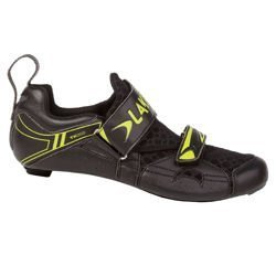 Road cycling triathlon shoe LAKE TX 222 2017 black / yellow CARBON