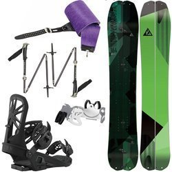 SET 2021: Splitboard NITRO Doppelganger KOROYD + KOHLA Skins + UNION Expedition bindigns / crampons + BLACK DIAMOND Compactor poles