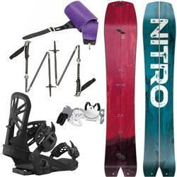 SET 2021: Splitboard NITRO Squash + KOHLA Peak skins+ bindigns / crampons UNION Expedition + BLACK DIAMOND Compactor poles