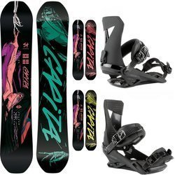 SET 2021: snowboard CAPITA Indoor Survival + bindings NITRO Zero Ultra Black