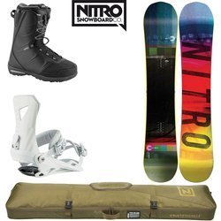 SET NITRO 2020: snowboard Cinema GULLWING + bindigns Zero + boots Vagabond + Cargo Board Bag