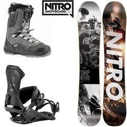 SET NITRO 2020: snowboard SMP + bindings Team + boots Venture