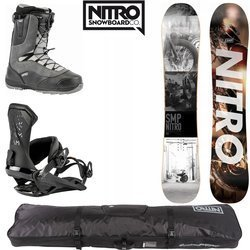 SET NITRO 2020: snowboard SMP + bindings Team + boots Venture + Cargo Board Bag