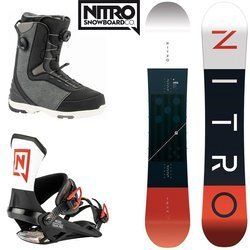 SET NITRO 2020: snowboard Team CAMBER WIDE + bindigns Team ICON + boots Club BOA Dual