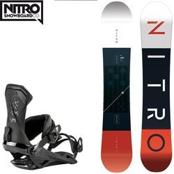 SET NITRO Team 2020: snowboard CAMBER WIDE & bindings ICON