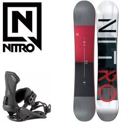 SET NITRO Team 2021: snowboard GULLWING WIDE & bindings Ultra Black