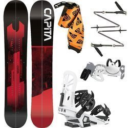 SET: splitboard CAPITA Neo Slasher 2020 + UNION Expedition 2021: Bindigns /  Skins / Crampons + poles BLACK DIAMOND Compactor 2021