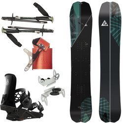 SET: splitboard NITRO Doppleganger 2020 + skins & poles BLACK DIAMOND + bindings system UNION Expedition FC CARBON & crampons