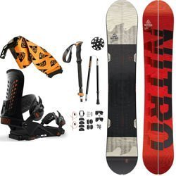 SET: splitboard NITRO Nomad + bindings system + skins + poles UNION Expedition 2019