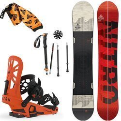 SET: splitboard NITRO Nomad + bindings system + skins + poles UNION Expedition 2020