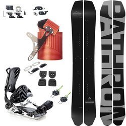 SET: splitboard PATHRON Carbon Powder 160cm MIDWIDE + bindings SP/PATHRON GT MultiEntry + VOILE + skins BLACK DIAMOND Ascension Splitboard