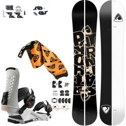 SET: splitboard PATHRON Scratch + bindings system + skins UNION Expedition white 2019