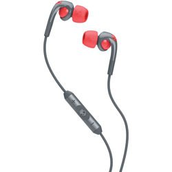 Słuchawki z mikrofonem SKULLCANDY The Fix grey / hot red S2FXFM-318