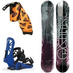 WOMEN SET 2020: splitboard NITRO Volta 151cm + skins & bindings UNION Expedition blue
