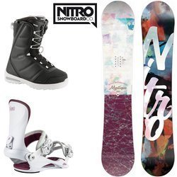 Women SET NITRO 2020: snowboard Mystique GULLWING + bindings Cosmic + boots Flora