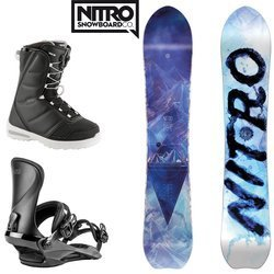 Women SET NITRO 2020: snowboard NITRO Drop + bindings Cosmic + boots Flora