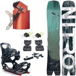ZESTAW 2020: splitboard NITRO Squash + wiązania VOILE Speed Rail + foki BLACK DIAMOND Ascension Splitboard