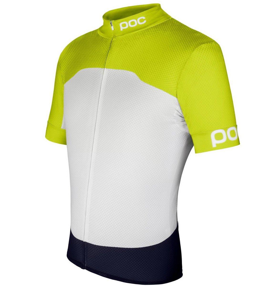 8b31fbacf Koszulka rowerowa POC Raceday Climber Short Sleeve Jersey unobtanium yellow    hydrogen white jersey