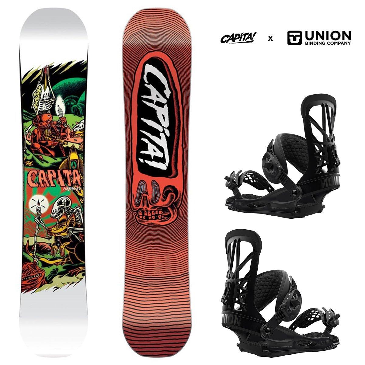 Snowboard Set: CAPITA Horrorscope 149cm + UNION Flite PRO