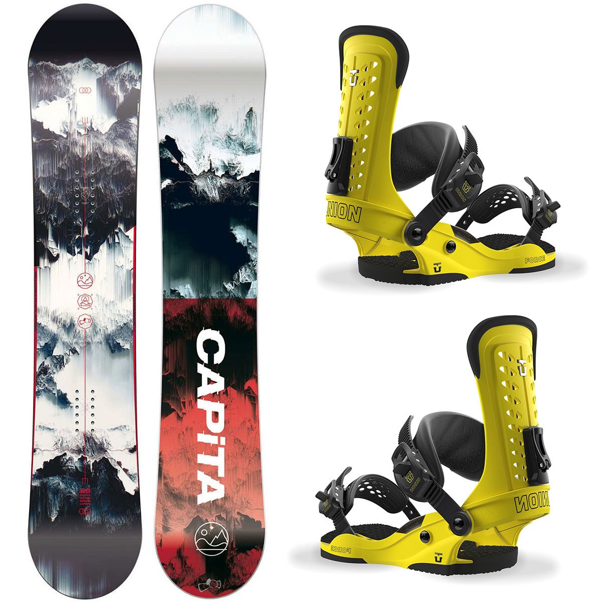 Snowboard Set: CAPITA Outerspace Living 156cm + UNION