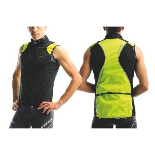 Bezrękawnik rowerowy LOOK Coupe Vent Sans Manche dos fluo145g