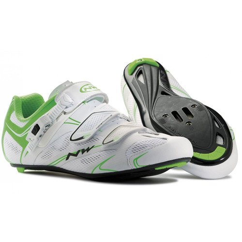 Buty szosowe rowerowe NORTHWAVE Sonic SRS CARBON white / fluo green