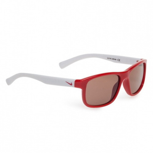 Dziecięce okulary sportowe / lifestylowe NIKE Champ university red / white /with GREY lens