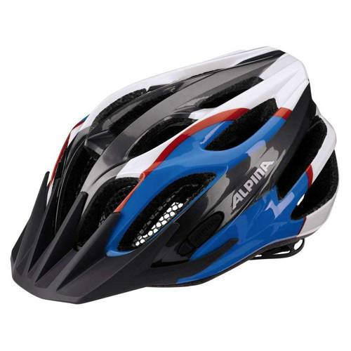 Juniorski kask rowerowy ALPINA FB JR 2.0 FLASH BE VISIBLE | LED anthracite / blue / red / white