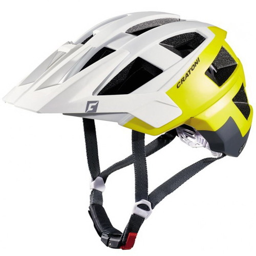 Kask rowerowy CRATONI Allset MTB ENDURO white / yellow / grey matt