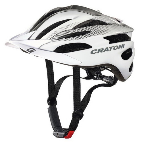 Kask rowerowy CRATONI Pacer white / silver glossy