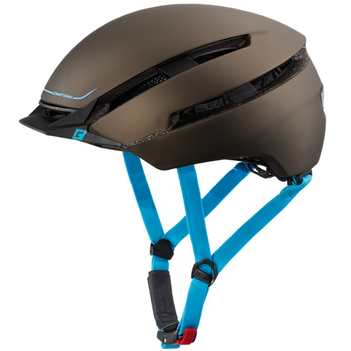Kask rowerowy miejski CRATONI C-Loom URBAN + LED brown / blue rubber