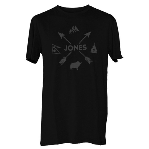 Koszulka JONES SNOWBOARDS Arrows Tee plain black