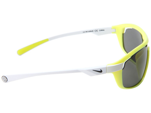 Okulary sportowe treningowe rowerowe kolarskie biegowe NIKE Road Machine electric yellow / white /with GREY lens ENDURO