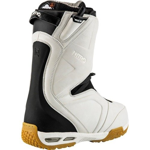 Snowboard boots NITRO Team 2019 TLS VIBRAM D3O white / gum | Undeniable Comfort and Performance