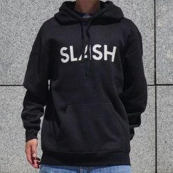 Bluza z kapturem SLASH Snowboards by GIGI Hoody Logo black