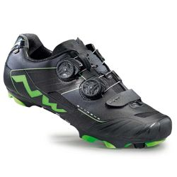 Buty rowerowe NORTHWAVE Extreme XCM CARBON MARATHON black / green fluo
