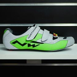 Buty rowerowe szosowe NORTHWAVE Extreme S full CARBON reflective silver / green