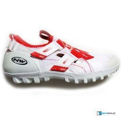 Buty spinningowe  NORTHWAVE Spinn SPD white / red