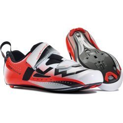 Buty triathlonowe rowerowe NORTHWAVE Extreme Triathlon CARBON white/red